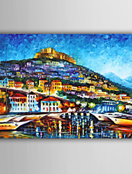 ручная роспись абстрактной / пейзаж / люди / абстрактный пейзаж европейский стиль картина маслом, холст одна панель