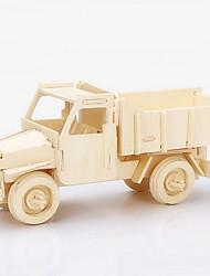 Quebra-cabeças Quebra-Cabeças 3D / Quebra-Cabeças de Madeira Blocos de construção DIY Brinquedos Caminhão Madeira BegeModelo e Blocos de