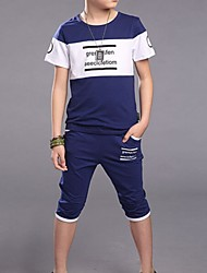 Boy's Cotton Clothing Set,Summer Short Sleeve