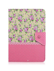 Universal 7 Inch Tablet Case Floral Pattern PU Leather Flip Stand Case Cover For 7.0 Inch Tablet