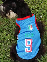 Hunde T-shirt Blau / Dunkelblau Sommer / Frühling/Herbst Klassisch Modisch, Dog Clothes / Dog Clothing-Lovoyager