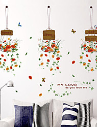 Botanique / Mode / Floral Stickers muraux Stickers avion,PVC 50*70cm(19.7*27.6 inch)