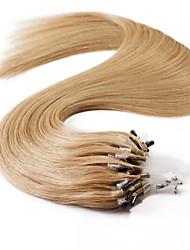 neitsi® 20inch micro anneau boucles extensions de cheveux humains sonne cheveu humain 27 #