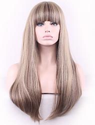 Linen Gray Qi Liu Hai Long Straight Hair Synthetic Wig