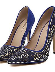 Chaussures Femme-Habillé / Soirée & Evénement-Noir / Bleu / Amande-Talon Aiguille-Talons / Bout Pointu-Talons-Synthétique