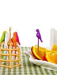 6PCS Cage Fruit Fork Cake Fork