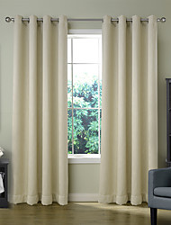 Chadmade LAKIS Collection Cotton Rayon Chenille Blackout Insulated Thermal Curtain Panel Drape - Nickle Grommet