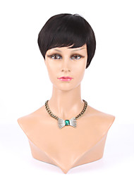 Top Grade Machine Made Glueless Rihanna Chic Cut Short Human Hair Wigs For Black Women