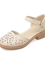Women's Shoes Low Heel D'Orsay & Two-Piece/Round Toe Heels Dress Pink/White/Beige