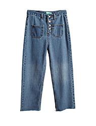 Pantaloni Da donna Jeans Moda città Poliestere Anelastico