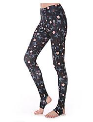 Pantalones de yoga Prendas de abajo Transpirable / Secado rápido / Capilaridad / Reductor del Sudor Alto Eslático Ropa deportivaNegro /