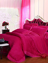 Yuxin®Tencel Fabric Modal Satin Jacquard Bedding Wedding Suite 4 Piece   1.5m-1.8m/2.0m  bed  Bedding Set