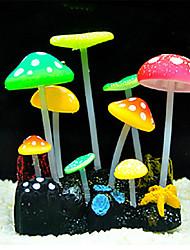 fluorescente cogumelo decoração ornamento para aquário