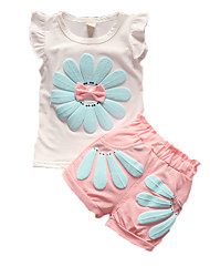 Girl's Clothing Set,Cotton Summer Green / Pink / Red