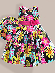 Girls Dress + Hat Colorful Floral Sundress  Party Pageant Birthday  Cute Kids Clothing