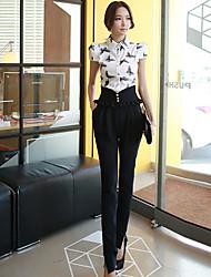Women's Solid Black Harem Pants,Work