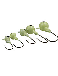 Fishing-10 pcs Light Green / luminous/Fluorescent Metal-Brand NewSpinning / Freshwater Fishing / General Fishing / Bass Fishing / Lure