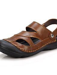 Chaussures Hommes-Décontracté-Marron / Kaki-Cuir-Sandales