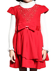 Girl's Red Dress Polyester Spring / Fall