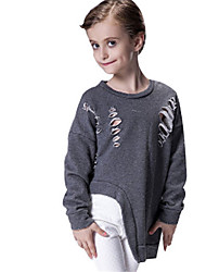Girl's Gray Tee,Cartoon Cotton Spring / Fall