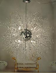 Globe Crystal / LED / Bulb Included Chrome Metal Chandeliers / Pendant LightsLiving Room / Bedroom / Dining Room