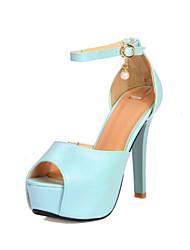 Women's Shoes Stiletto Heel Peep Toe/Platform/Open Toe Sandals Party & Evening/Dress Blue/Green/Beige