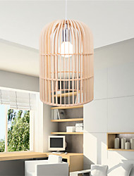 12W Vintage LED Birdcage Wood Chandeliers Living Room / Bedroom / Dining Room / Study Room/Office / Hallway