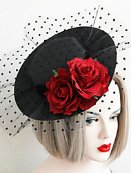 The Vintage Sexy  Rose Grenadine  Bowler Hat