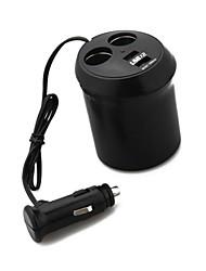 accendisigari caricabatteria multiprese 2 2 USB релизы Горячие новинки