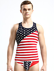 Men's Sleeveless Tank Tops,Modal Casual Print