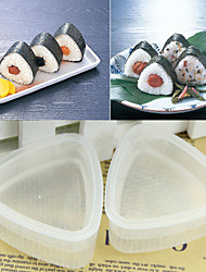 Triangle Form Sushi Mold Onigiri Rice Ball Bento Press Maker Mould Bento,Set of 2