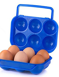 Double Lock Egg Box Portable Outdoor Picnic Box With Handle Eggs Random Color