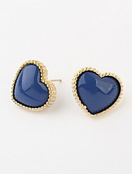 Korean Fashion Style Lovely Ladies Peach Heart Stud Earrings Women Wonderful Accessories