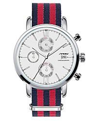 Мужской Наручные часы Кварцевый Календарь Секундомер Защита от влаги Нержавеющая сталь Группа Красный марка SINOBI