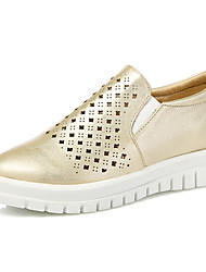 Women's Shoes Low Heel Platform/Creepers/Round Toe Loafers Office & Career/Dress/Casual Black/Pink/Gold/Nude