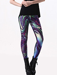 Damen Legging - Bedruckt Polyester Medium