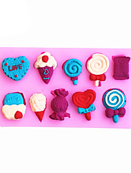 Ice cream Shaped Silicone Fondant Cake Cake Chocolate Silicone Molds,Decoration Tools Bakeware