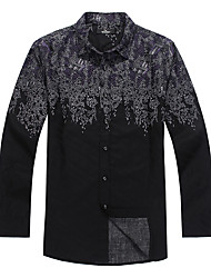 Seven Brand® Men's Shirt Collar Long Sleeve Shirt & Blouse Black-703A323763