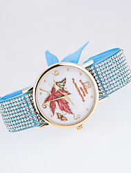 Women's European Style New Fashion Trend Rhinestone Casual Colorful Maple Butterfly Bracelet Watch