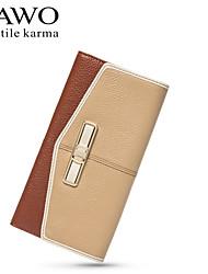 NAWO Women Cowhide Wallet Brown-N352081