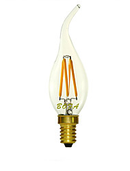 E14 220V 2200K-3000K 200-300Lm 3W 4LED C35L Dimmable Retro Imitation Tungsten Filament LED Candle Light