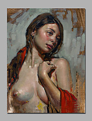 Nude Girl Beautiful Breast Painting Best Wall Art Decoration Spray Printed Artwork Ready To Hang