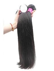 Top-Qualität unverarbeiteten brasilianischen reinen Menschenhaarerweiterungen 1b schwarze remy gerade menschliche Haarwebart 300g / lot 8