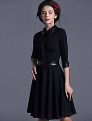 Baoyan® Femme Mao Manches 3/4 Au dessus des genoux Robes-14497