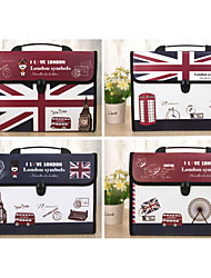 Multifunction Portable Files Folders & Filing for Office UK Flag
