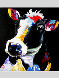 Peint à la main AnimalClassique / Traditionnel / Réalisme / Pastoral / Style européen / Modern Un Panneau ToilePeinture à l'huile