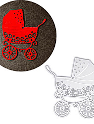 Metal Baby Carriage Cutting Dies Stencil For DIY Scrapbooking Paper Cart Decor Greeting Decoration