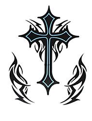 1pcs grande cruz impermeável enviada de volta padrão de tatuagem adesivo para a arte corporal
