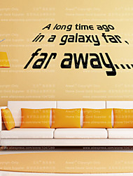 "W-14 Star War Quote ""Long Time Ago In A Galaxy Far "" Wall Decals Vinyl Stickers Home Decor For Wall Decoration"