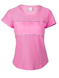Carrera Camiseta Mujer Mangas cortas Transpirable / Reflectante / Suavidad / Suave Algodón / Elastán Yoga / Ciclismo/Bicicleta / Running